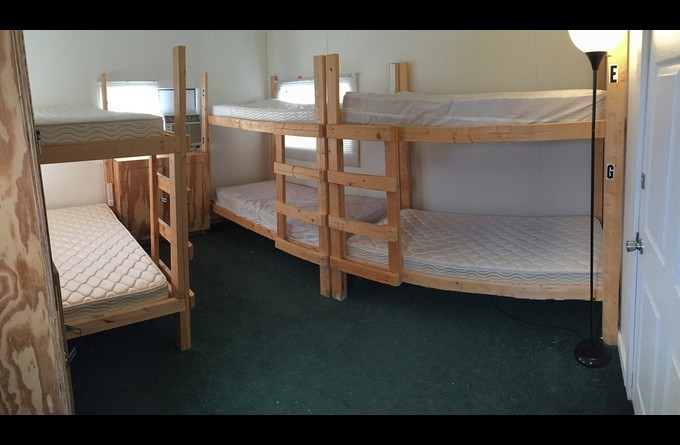 Bunks with lockers